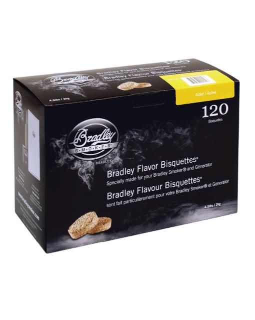 Bradley Smoker Wood Bisquettes, Alder Flavor, 120 Pack