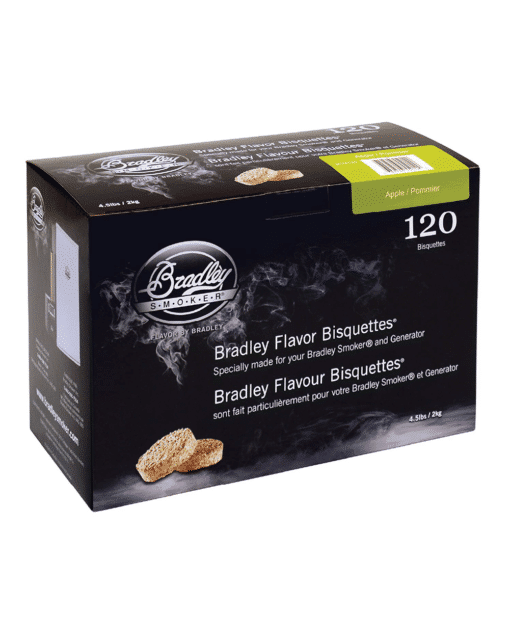 Bradley Smoker Wood Bisquettes, Apple Flavor, 120 Pack