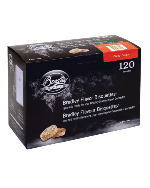 Bradley Smoker Wood Bisquettes, Cherry Flavor, 120 Pack