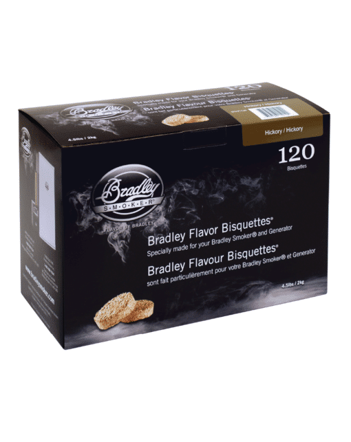 Bradley Smoker Wood Bisquettes, Hickory Flavor, 120 Pack