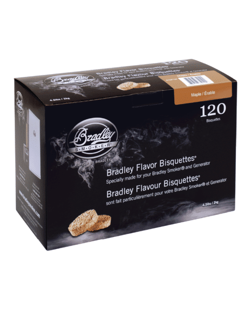 Bradley Smoker Wood Bisquettes, Maple Flavor, 120 Pack