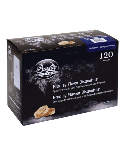 Bradley Smoker Wood Bisquettes, Pacific Blend Flavor, 120 Pack